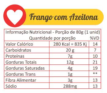Sabores Da Empada Tabela Nutricional Frango Com Azeitona