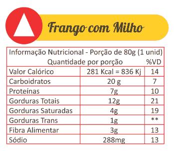 Sabores Da Empada Tabela Nutricional Frango Com Milho