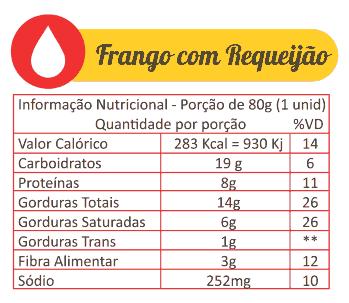Sabores Da Empada Tabela Nutricional Frango Com Requeijao