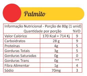 Sabores Da Empada Tabela Nutricional Palmito